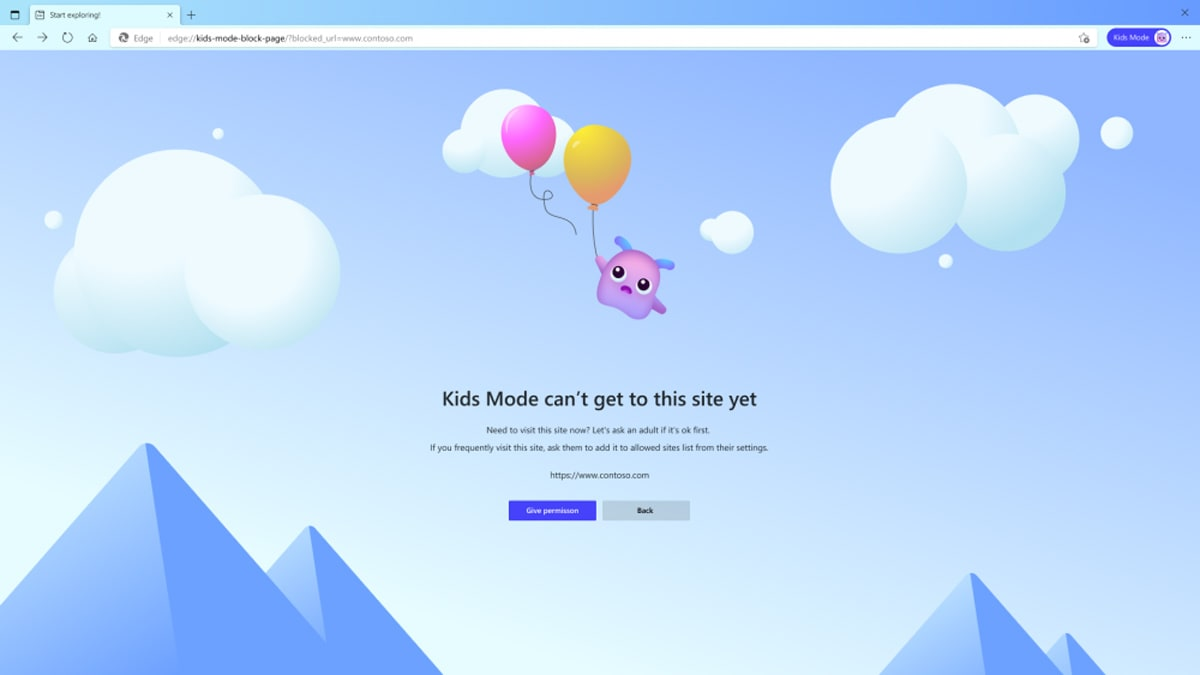 Microsoft Edge adds a 'Kids Mode' to give parents control over what children can browse